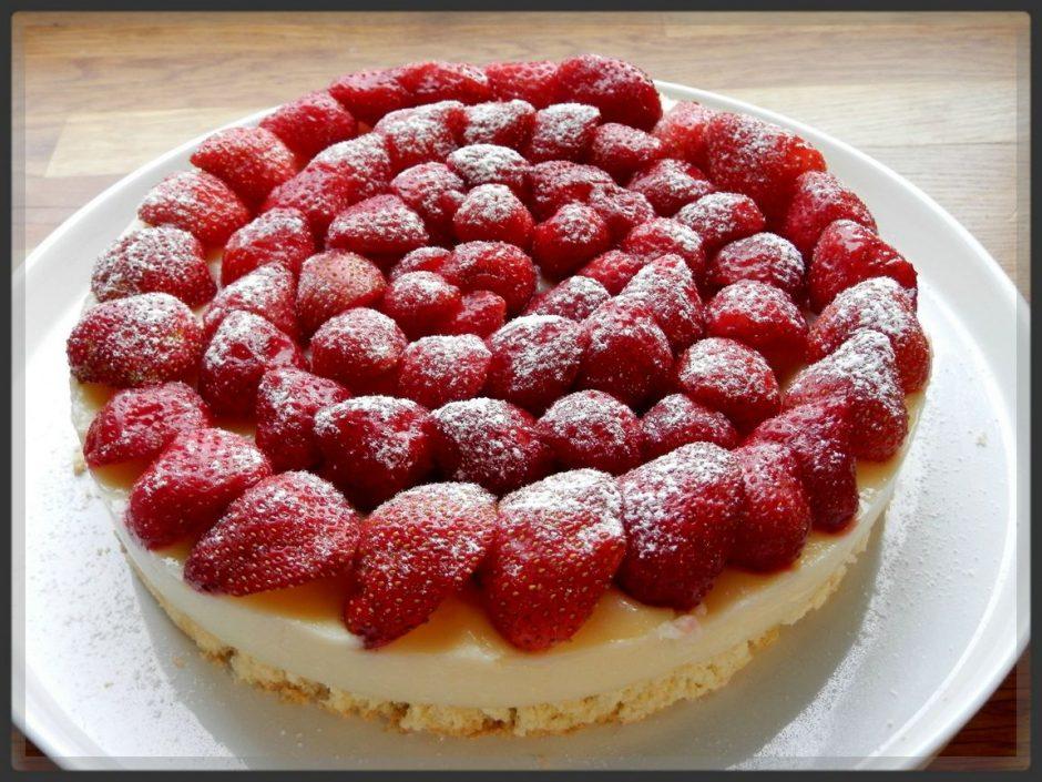 Tarte aux fraises rapide : je ne me prends pas la tête pour la préparer