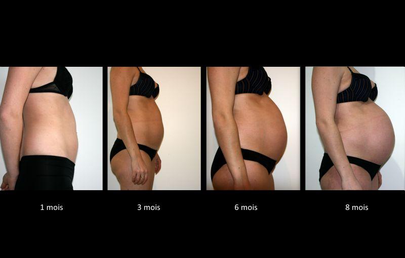 Ventre femme enceinte 3 mois