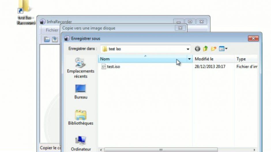 Comment faire un fichier iso ?
